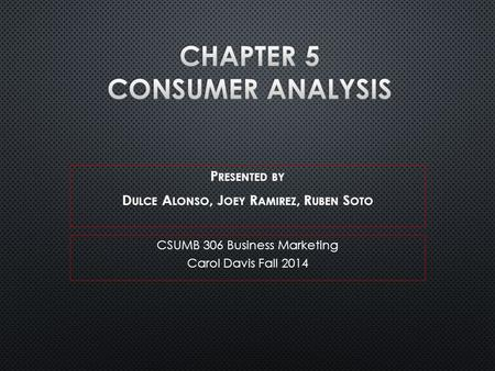 CSUMB 306 Business Marketing Carol Davis Fall 2014.