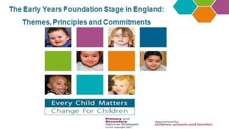The Early Years Foundation Stage in England: