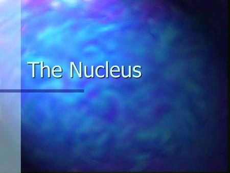 The Nucleus. Spherical or Oval Structure Spherical or Oval Structure Usually most predominant structure in a cell Usually most predominant structure in.