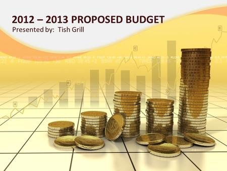 2012 – 2013 PROPOSED BUDGET Presented by: Tish Grill.