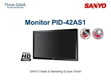 Monitor PID-42AS1 SANYO Sales & Marketing Europe GmbH.