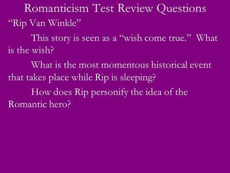 """rip van winkle romanticism essay Modern day rip van winkle - essay example romanticism in washington irving's """"rip van winkle"""" in washington irving's """"rip van winkle,"""" several."""
