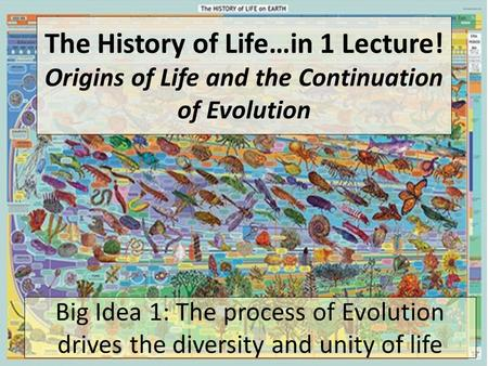 The History of Life…in 1 Lecture