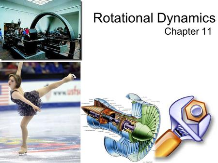 Chapter 11 Rotational Dynamics. Important quantities Moment of inertia, I. Used in  =I . So, I divided by time-squared has units of force times distance.