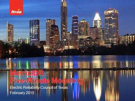 Electric Reliability Council of Texas February 2015.