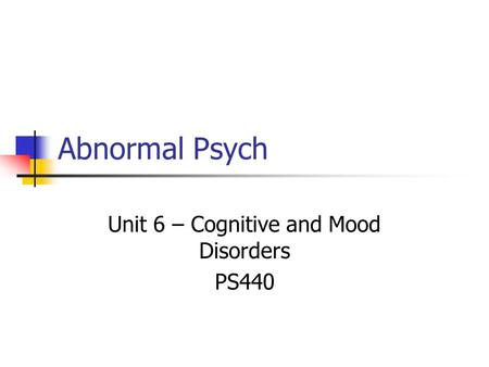 an analysis of abnormal psychology mental disorders Psychopathology in historical context:free association, dream analysis abnormal psychology social sciences psychology.