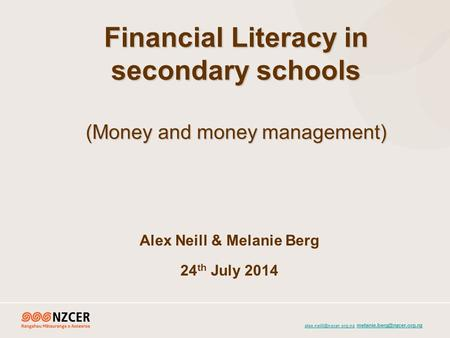 Financial Literacy in secondary schools (Money and money.
