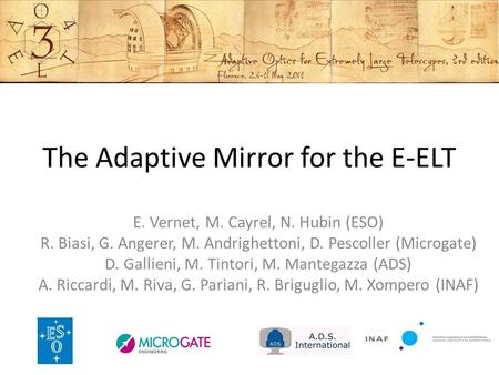 The Adaptive Mirror for the E-ELT