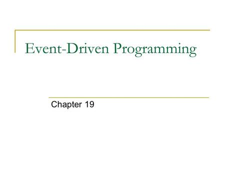 Event-Driven Programming Chapter 19. 2 Page Section: Section or division of an HTML page Generic block element Example: What's the difference between.
