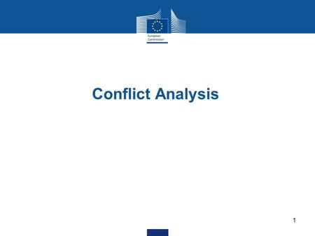 Conflict Analysis 1. 2 - Bosnia and Herzegovina (BiH) - Central African Republic (jointly with the UN) - Chad - Democratic Republic of Congo (DRC) - Guatemala.
