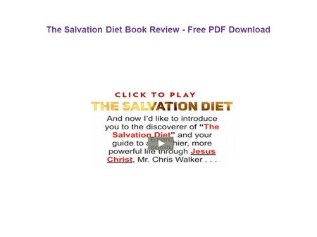 The Salvation Diet Book Review - Free PDF Download.