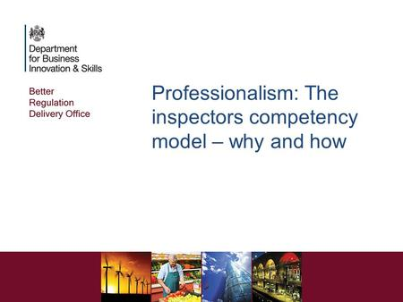 Professionalism: The inspectors competency model – why and how.