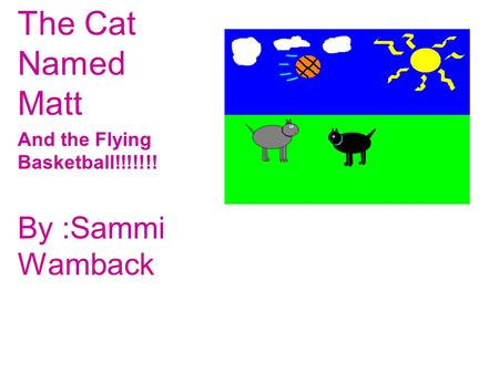 The Cat Named Matt And the Flying Basketball!!!!!!! By :Sammi Wamback.