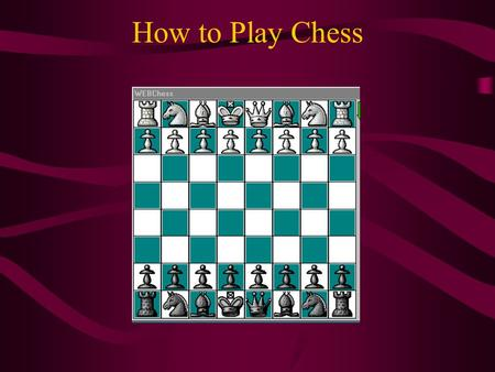 How to Play Chess. Name of Each Piece The relative values of the chess pieces <> 9 points <> 5 points <> 3+ points <> 3 points <> 1 point.