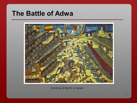 Painting of Battle of Adwa