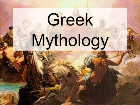 Greek Mythology. Zeus Zeus was the supreme ruler of Mount Olympus. He also ruled over all of the gods who lived there. He was also a celestial god and.