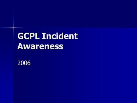 GCPL Incident Awareness 2006. Crane Incident/ Near Miss Incident: Incident: –A contractor employee was using a 'cherry picker' crane to set mats in preparation.