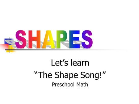 "Let's learn ""The Shape Song!"" Preschool Math. Circle ""I am mama CIRCLE, round like a pie."""