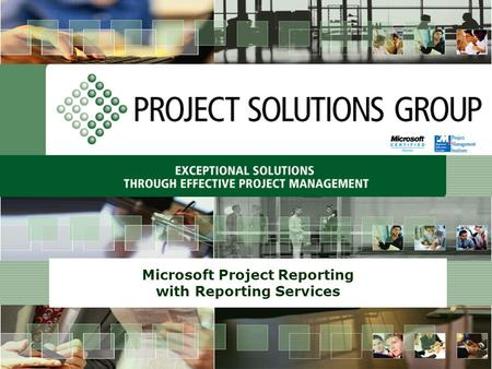 Microsoft Project Reporting with Reporting Services.