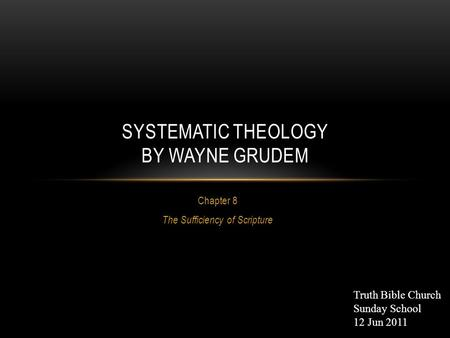 the sufficiency and perspicuity of scripture The idea of the understand-ability of the basic gospel message in scripture ties closely in to the reformed idea of the sufficiency of scripture the concept of sufficiency means about the same thing as perfection.