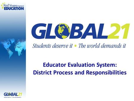 Educator Evaluation System: District Process and Responsibilities.