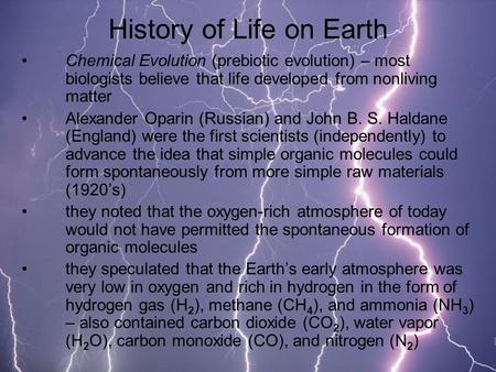 an analysis of the chapter 6 of life in the universe the evolution of life on earth Humans are merely another small part of the history of life on earth active themes ishmael tells the narrator that everyone in the world—whether religious or atheistic—believes in at least this shared premise: the world was made for humans.