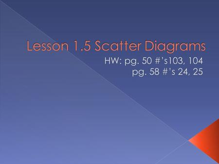  For each given scatter diagram, determine whether there is a relationship between the variables. STAND UP!!!