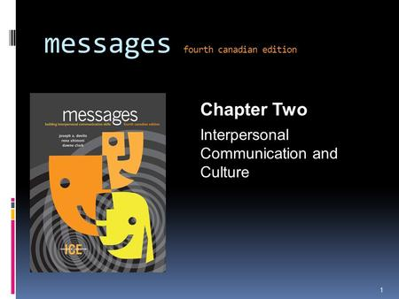 Messages fourth canadian edition Chapter Two Interpersonal Communication and Culture 1.