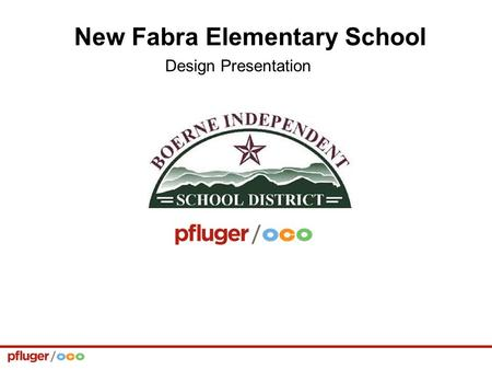 New Fabra Elementary School Design Presentation. Play Field Playground Bus Loop Staff Parking Parent Drop-off Parking Johns Rd. Lattimore Blvd. Secure.