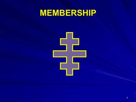 MEMBERSHIP 1. What does it take to Get New Members? 2.