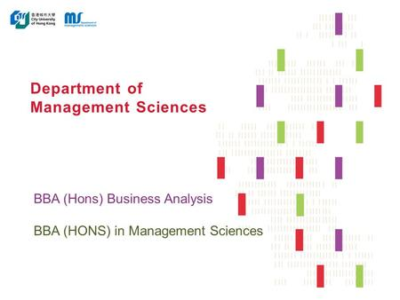 Department of Management Sciences BBA (Hons) Business Analysis BBA (HONS) in Management Sciences.