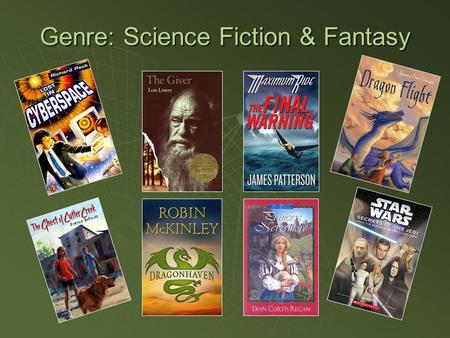 Genre: Science Fiction & Fantasy.  Science Fiction Themes: AdventureAdventure AliensAliens MedicineMedicine RoboticsRobotics Futuristic TravelFuturistic.
