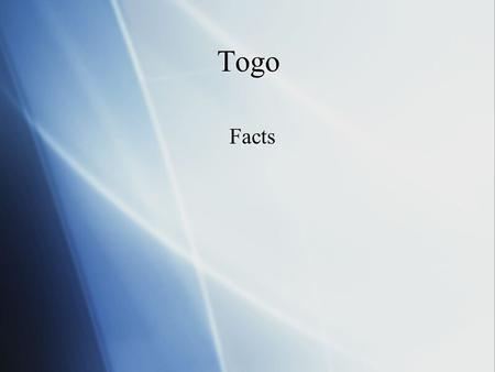 Togo Facts. Names  The full name of Togo is Togolese  Capital of Togo is Lom'e  The full name of Togo is Togolese  Capital of Togo is Lom'e.