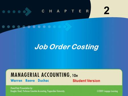 11-12-1 Click to edit Master title style Click to edit Master text styles –Second level Third level –Fourth level »Fifth level 1 2 Job Order Costing Student.