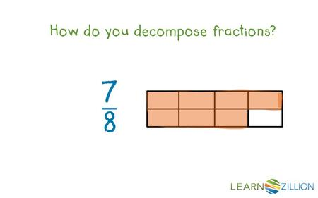How do you decompose fractions?. In this lesson you will learn how to decompose a fraction by breaking up the fraction into a sum of fractions.