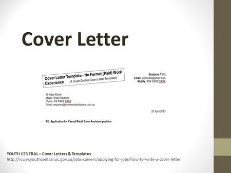 Cover Letter YOUTH CENTRAL – Cover Letters & Templates