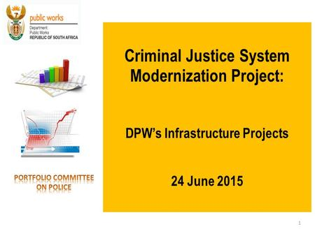Criminal Justice System Modernization Project: DPW's Infrastructure Projects 24 June 2015 1.