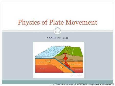 SECTION 5.3 Physics of Plate Movement