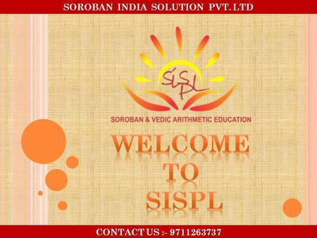 SOROBAN INDIA SOLUTION PVT. LTD CONTACT US :- 9711263737.