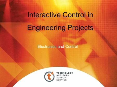 Interactive Control in Engineering Projects Electronics and Control.