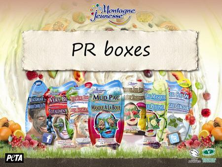 PR boxes. 23cm x 23cm Perfect size for posting or taking to meetings and leaving behind Order code: PR-Sachet Box First 25 Free of Charge / then after.