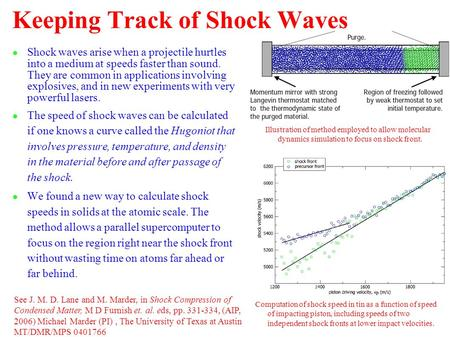 Keeping Track of Shock Waves ● Shock waves arise when a projectile hurtles into a medium at speeds faster than sound. They are common in applications involving.
