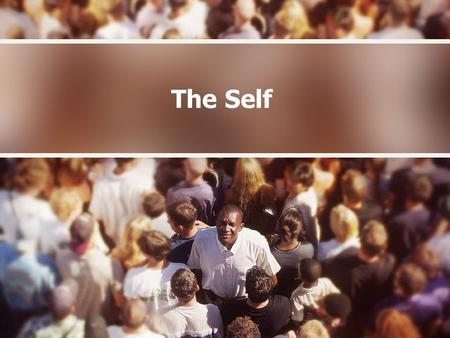 The Self. What is the self? Two aspects combine for a coherent identity: self concept –The self is composed of our thoughts and beliefs about ourselves.