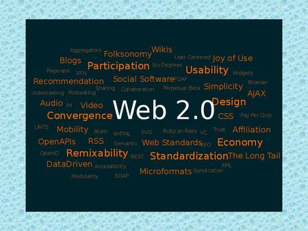 she argues that the Web is fragmenting due to the widespread use of portable Web-ready devices In 2004, the term began its rise in popularity when O'Reilly.