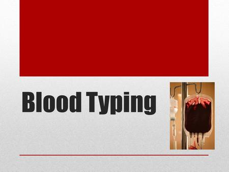 Blood Typing. If you lose more than 15-30% of your blood, pallor and weakness will result.