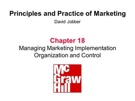 David jobber principles and practice of marketing