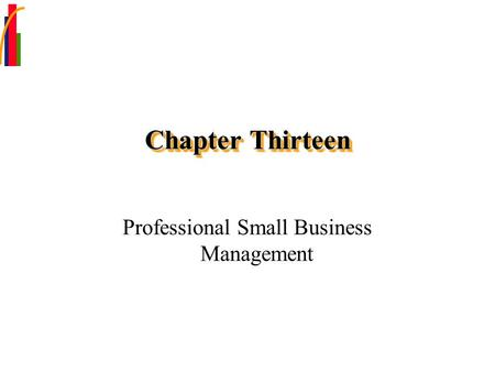 Professional Small Business Management