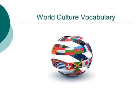World Culture Vocabulary