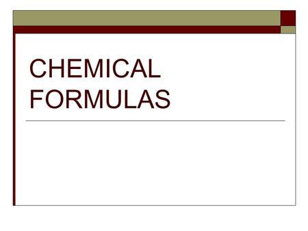 criss cross method for chemical formulas