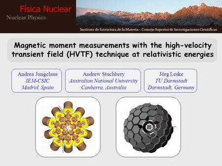 Magnetic moment measurements with the high-velocity transient field (HVTF) technique at relativistic energies Andrea Jungclaus IEM-CSIC Madrid, Spain Andrew.